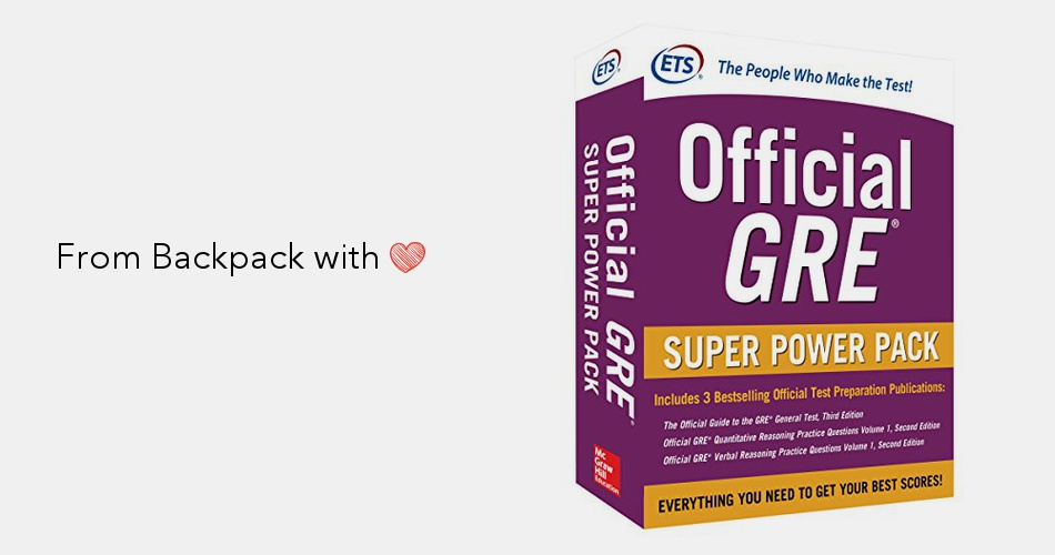 Official GRE Super Power Pack, Second Edition | Backpack