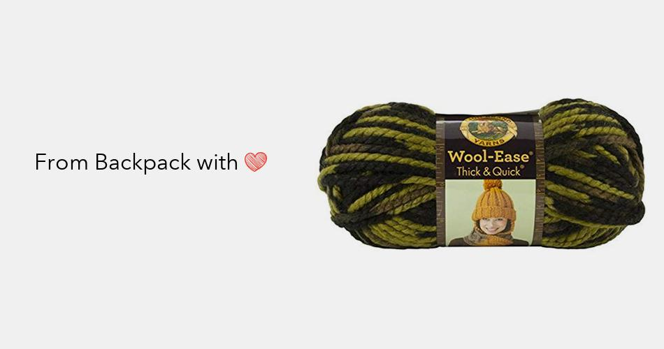 Lion Brand Yarn 400-5-1501 Scarf Knitting Needles Size 15 10mm