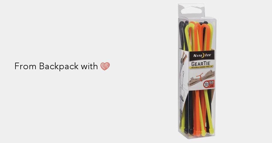 "Nite Ize Gear Tie 6/"" Bright Orange 2-Pack Reusable Rubber Twisty Ties Organizers"
