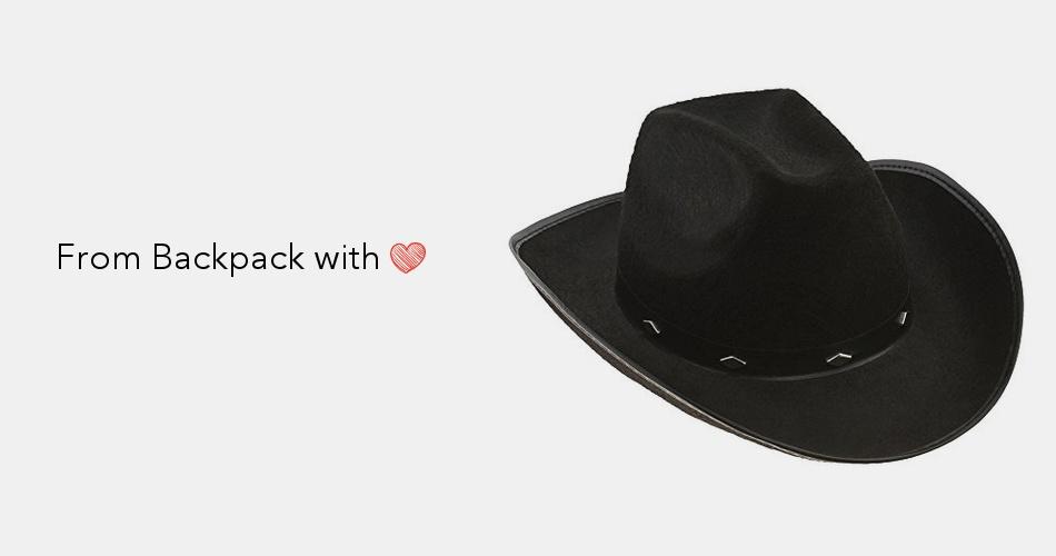 8837e20ee6b Kangaroo Black Felt Studded Cowboy Hat