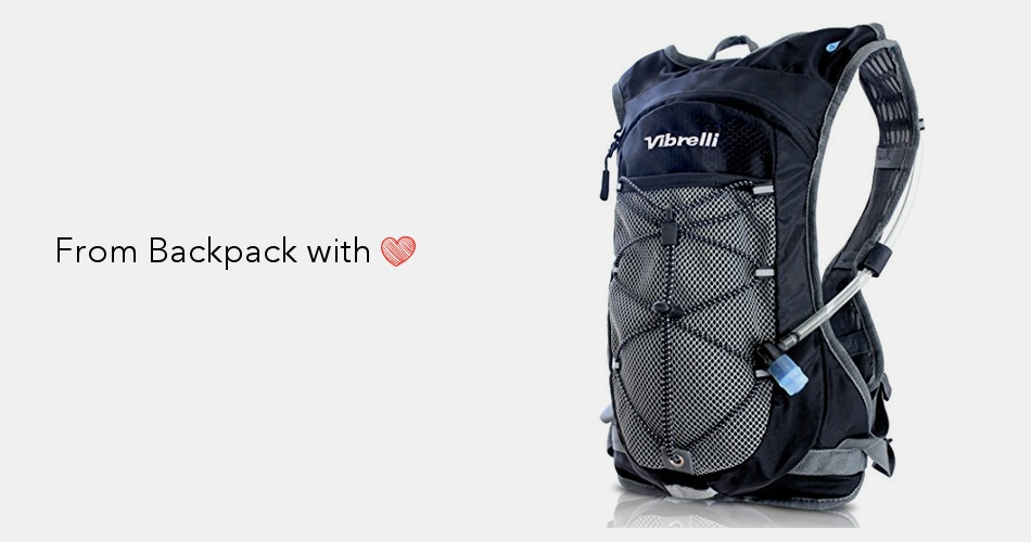 17461491d4 Vibrelli Hydration Pack & 2L Hydration Bladder - High Flow Bite Valve  Hydration Backpack with Anti-Microbial Technology | Backpack