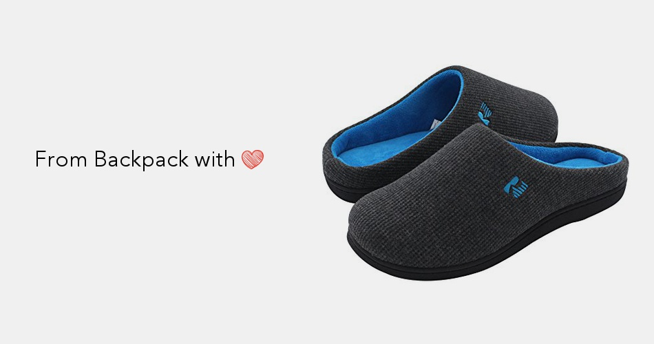 3a901e85a09d3e RockDove Men's Two-Tone Memory Foam Slipper | Backpack