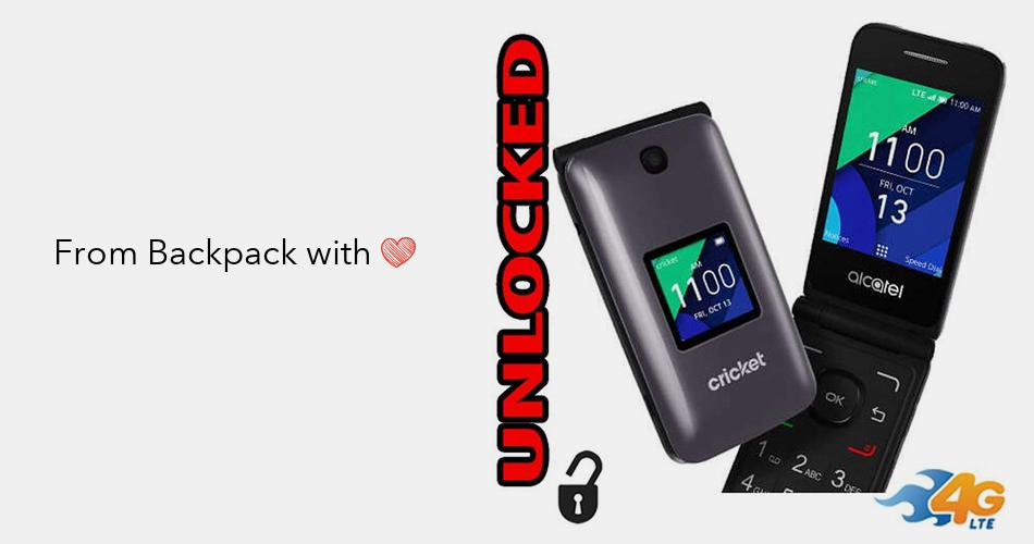 Flip Phone 4G LTE GSM Alcatel QuickFlip Unlocked BIG BUTTONS + Extrenal LCD  Bluetooth WIFI Mp3 Camera SOS Elderly